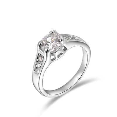 Diamond Semi-Mount White Gold Ring