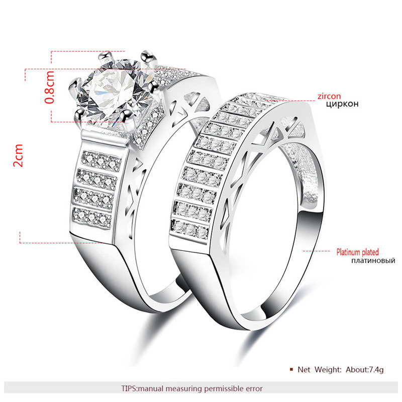 Arc Ladder White Gold Diamond Couple Rings