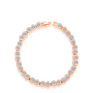 White Diamond Tennis Rose Gold Bracelet