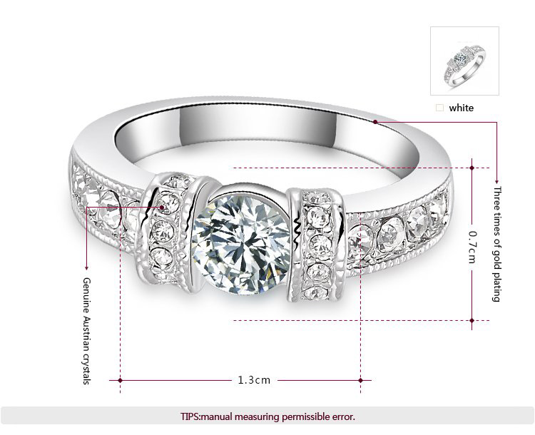 Buckle Bilateral Diamond White Gold Ring