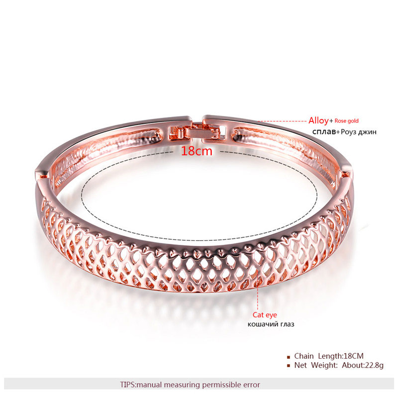 Cut Out Mesh Rose Gold Bangle