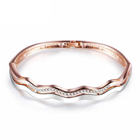 Wave Two-Tone Bangle