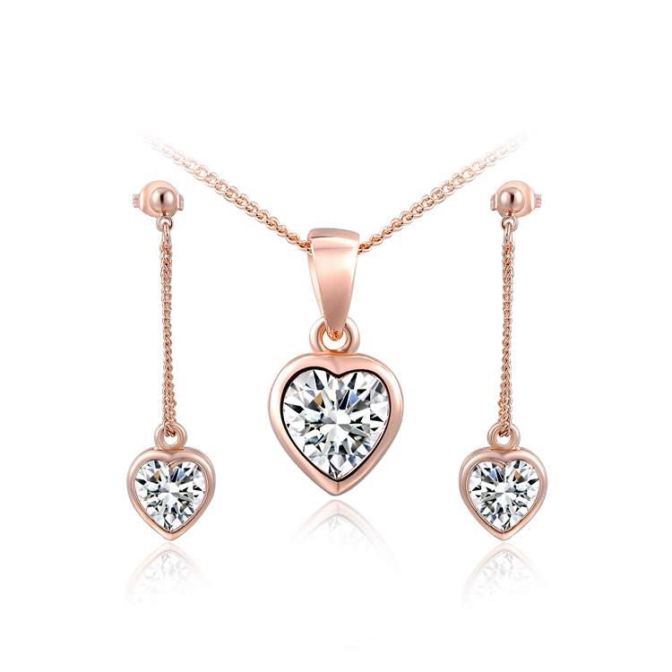 Twinkling Heart Rose Gold Set