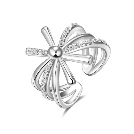 Gorgeous Flower White Gold Ring