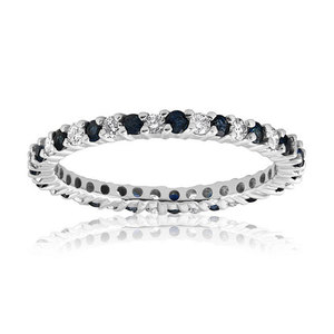 Blue & White Diamond White Gold Ring