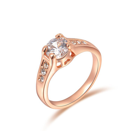 Diamond Semi-Mount Rose Gold Ring