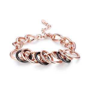 Multi-Ring Two-Tone Link Bracelet