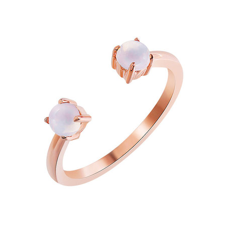 Double Moonstone Openings Ring