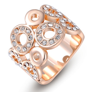 Multi Track Ring - Rose