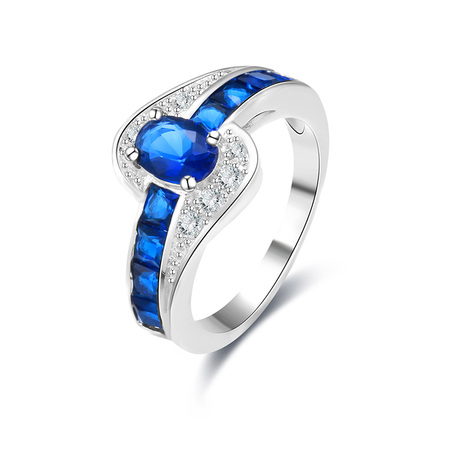 Hand Buckle Hand Sapphire Ring