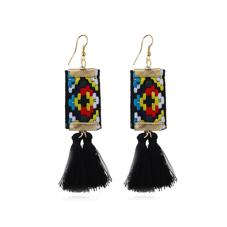 Bohemia Hand Embroidery Tassel Earrings