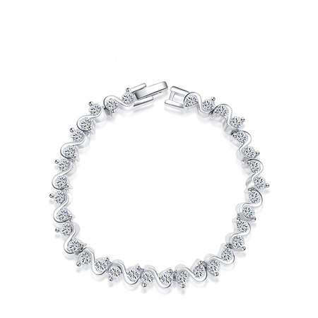 Twine Diamond White Gold Bracelet