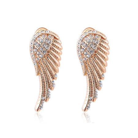 Angel Wings Rose Gold Earrings
