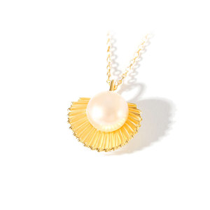 Scallops Pearl Sterling Silver Pendant