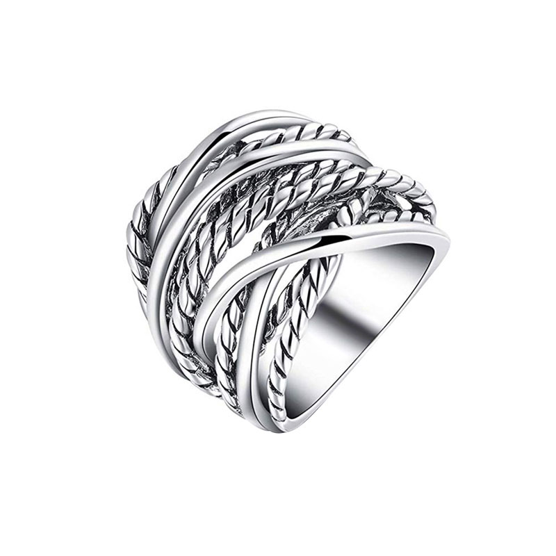 Crossover Twist White Gold Ring