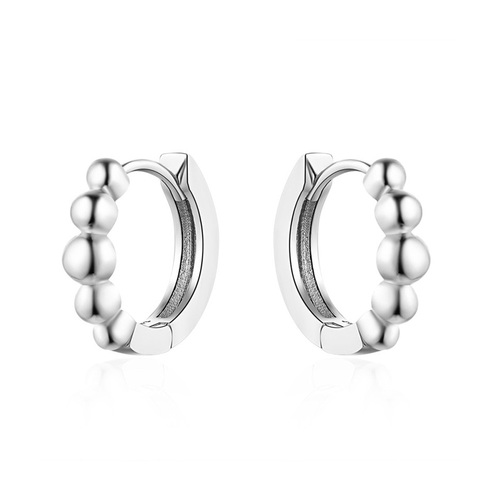 Fashion Concise White Gold Hoop Earrings