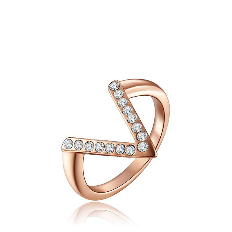 Victory Sign Rose Gold Ring