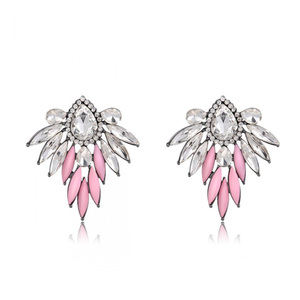 Pink Wings Exotic Style Stud Earrings