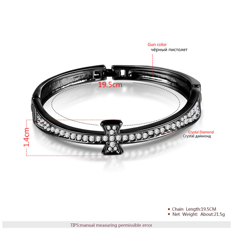 Classic Cross Black Bangle