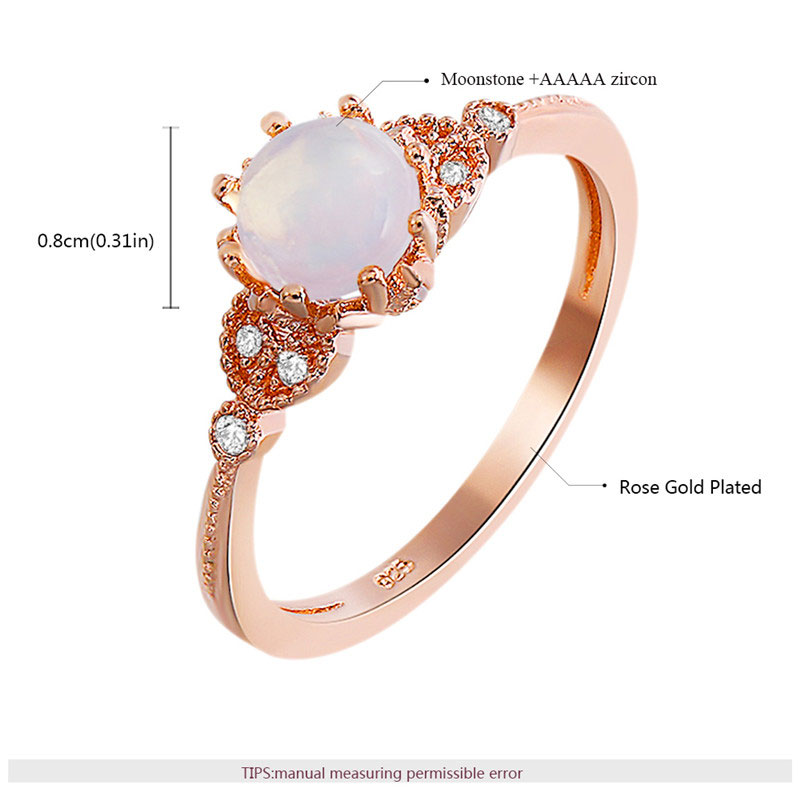 Call of Love Moonstone Rose Gold Ring