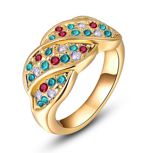 Four Section Mixed Diamond Ring - Yellow