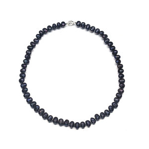 Natural Black Plated Pearl Necklace