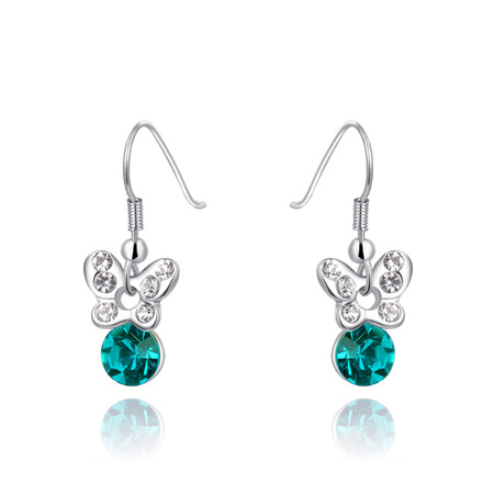 Butterfly Emerald Stud Earrings