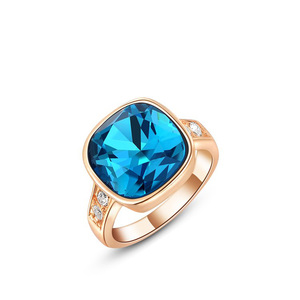 Rounded Square Sapphire Ring