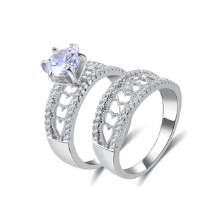 Heart Ladder Colourful Diamond Ring Set