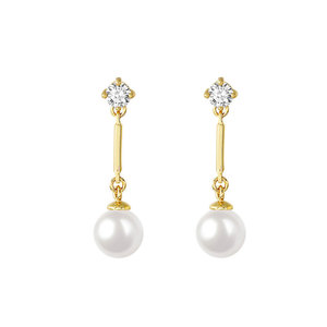 Fashion OL Pearl 18K Gold Earrings