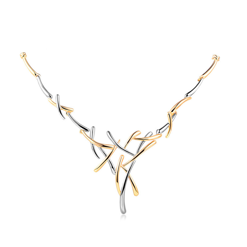 Crown Of Thorns Two-Tone Necklace