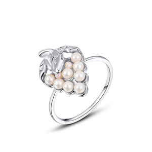 Strawberry Pearl White Gold Ring