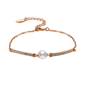 Only One Bead Rose Gold Bracelet