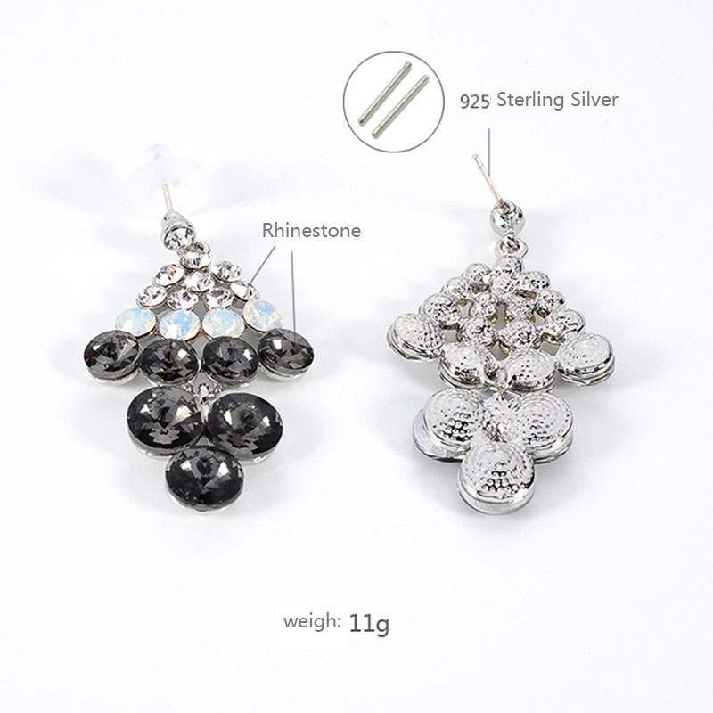 7 Layers Diamond Anniversary Gift Drop Earrings