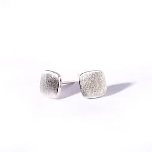 Square 925 Sterling Silver Earrings