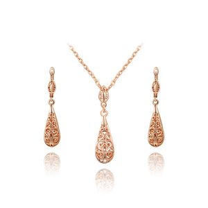 Cut Out Drop Shape Set - Rose Gold