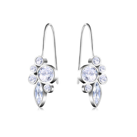 Round & Marquise Diamond Earrings