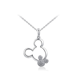 Mickey White Gold Pendant