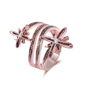 Double Starfish Rose Gold Ring