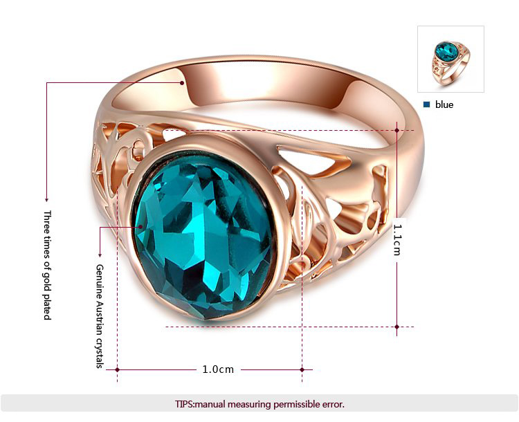 Oval Sapphire Rose Gold Ring