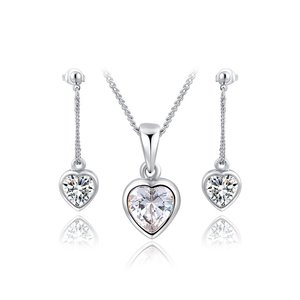 Twinkling Heart White Gold Set
