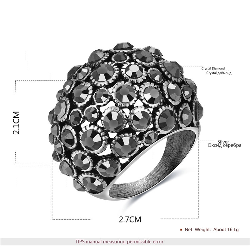 Phantom Starry Sky Silver Oxide Ring