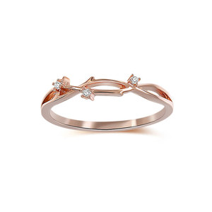 Sika Deer Antlers Diamond Ring