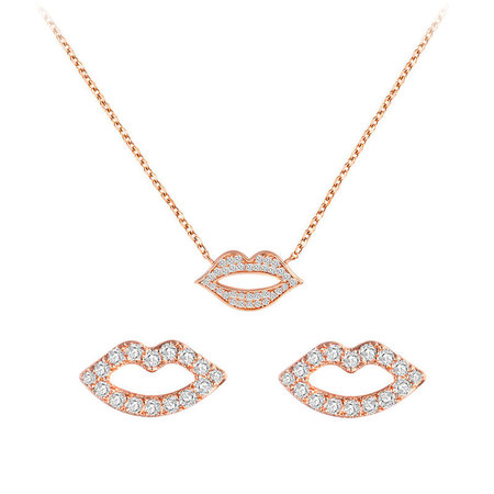 Personalized Lip Rose Gold Set