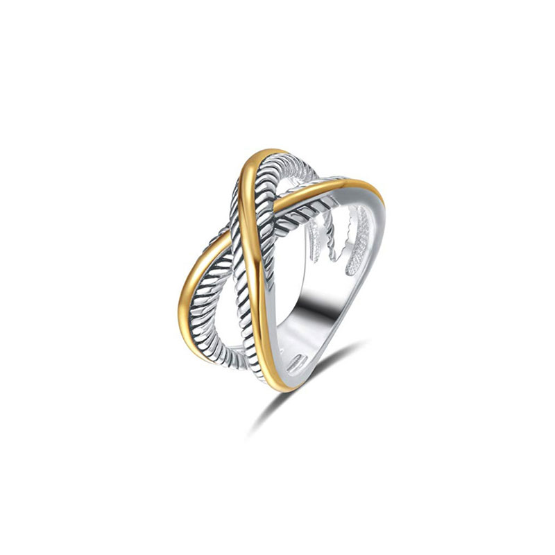 Classic Two-Tone Crossover Ring