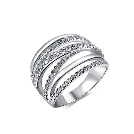 Multi-wire White Gold Ring