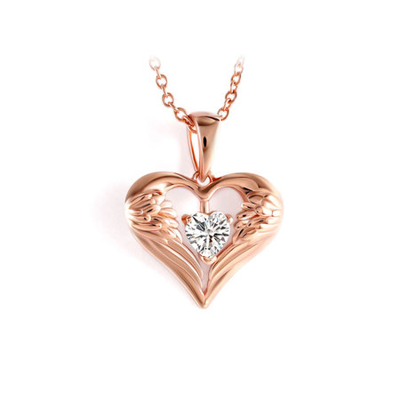 Wings Of Love Rose Gold Necklace