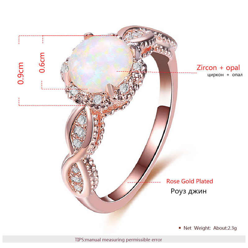 Bright-Coloured Opal Twist Rose Gold Ring