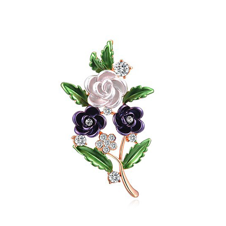 Pearl Flower Twig Brooch