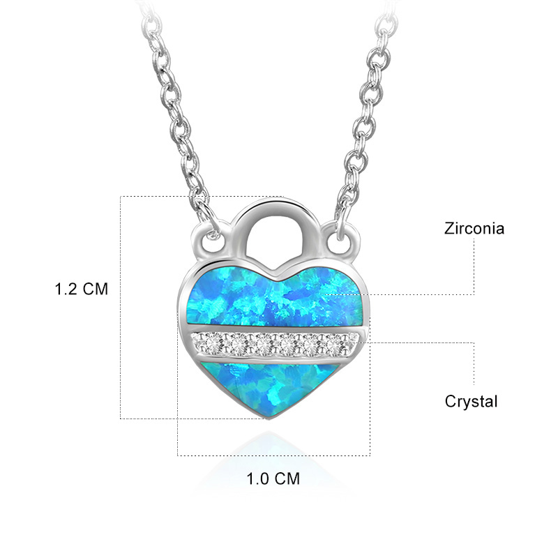 Heart Lock Pendant 925 Sterling Silver Necklace
